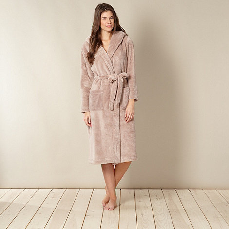 J by Jasper Conran - Designer taupe hooded dressing gown
