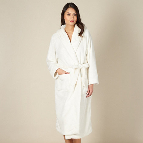 J by Jasper Conran - Designer cream hooded dressing gown