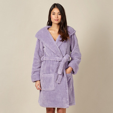 RJR.John Rocha - Designer lilac hooded waffle fleece dressing gown