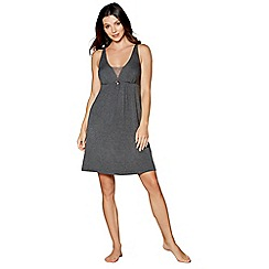 J by Jasper Conran - Grey lace back nightdress