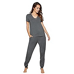 J by Jasper Conran - Dark grey marl print 'Dreamscape' pyjama set
