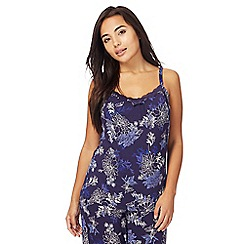 Gorgeous DD+ - Navy floral print 'Frida' hidden support camisole vest