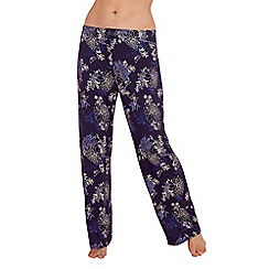 Gorgeous DD+ - Navy floral print 'Frida' pyjama bottoms