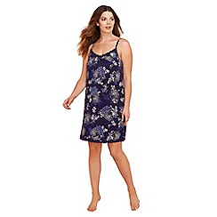 Gorgeous DD+ - Navy floral print 'Frida' chemise