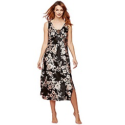The Collection - Black floral print 'Royale' nightdress