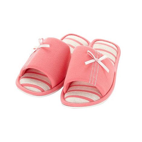 Presence - Dark peach jersey mule slippers