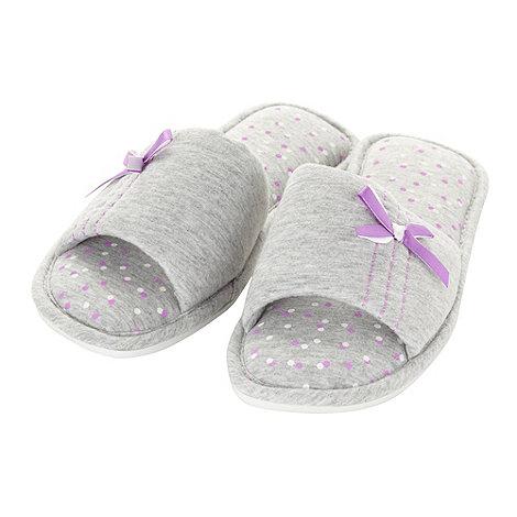 Presence - Grey jersey mule slippers
