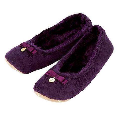 J by Jasper Conran - Designer purple ballet slippers
