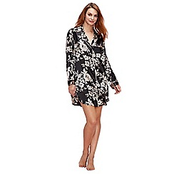 The Collection - Black 'Floral Royale' nightshirt