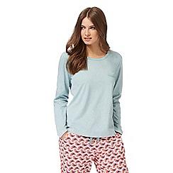 Lounge & Sleep - Green long sleeve 'Jackie' pyjama top