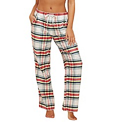 Lounge & Sleep - Multi-coloured 'Jackie' checked pyjama bottoms