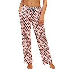 Lounge & Sleep - Coral 'Jackie' printed pyjama bottoms
