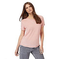 Lounge & Sleep - Light pink short sleeve pyjama top