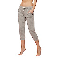 Lounge & Sleep - Light grey shimmer cropped jogging bottoms