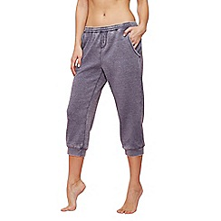 Lounge & Sleep - Blue cropped jogging bottoms