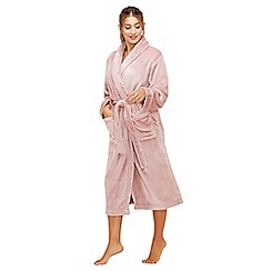 Lounge & Sleep - Pink fleece dressing gown