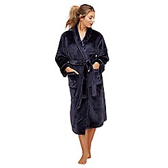Lounge & Sleep - Navy dressing gown