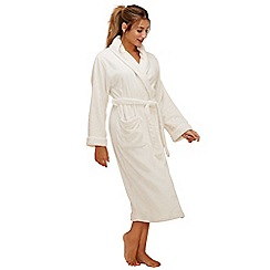 Lounge & Sleep - Cream long dressing gown
