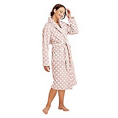 Lounge & Sleep - Pink spotted dressing gown