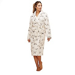 Lounge & Sleep - Cream butterfly print dressing gown