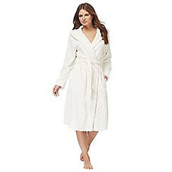 Lounge & Sleep - Cream embossed spot dressing gown