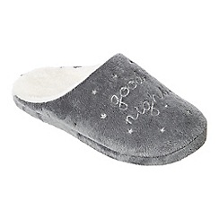 Lounge & Sleep - Dark grey mule slippers