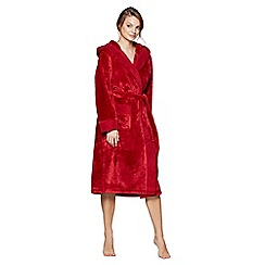 J by Jasper Conran - Red fleece dressing gown