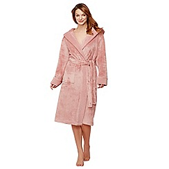 J by Jasper Conran - Rose pink fleece dressing gown