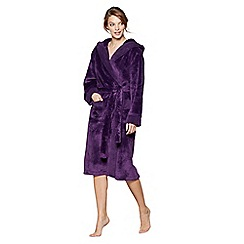 J by Jasper Conran - Purple fleece dressing gown