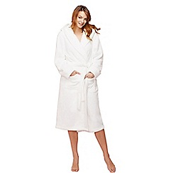 J by Jasper Conran - Ivory fleece dressing gown
