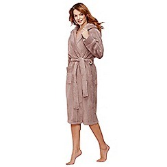 J by Jasper Conran - Taupe fleece dressing gown
