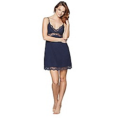 J by Jasper Conran - Navy lace satin chemise