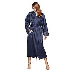 J by Jasper Conran - Navy satin dressing gown