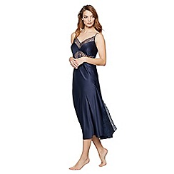 J by Jasper Conran - Navy lace satin nightdress