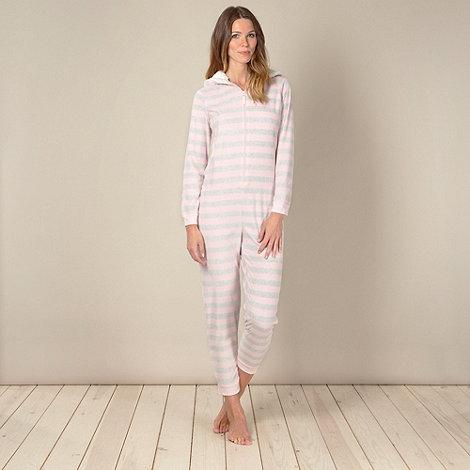 Lounge & Sleep - Think pink striped onesie