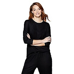 J by Jasper Conran - Black 'Ce Soir' long sleeve loungewear top