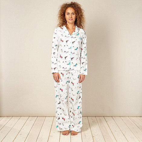 Lounge & Sleep - Cream dogs pyjama set