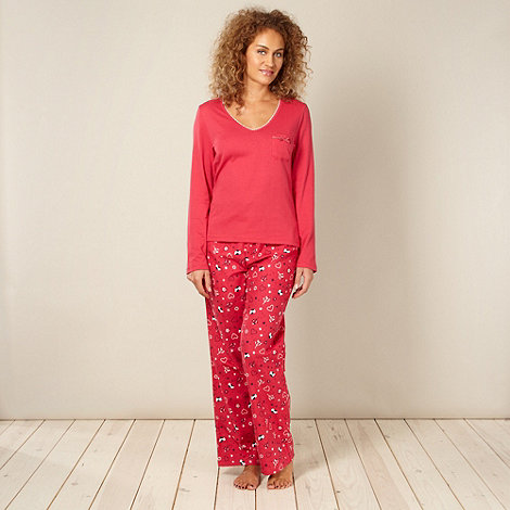 Lounge & Sleep - Red mistletoe pyjama set