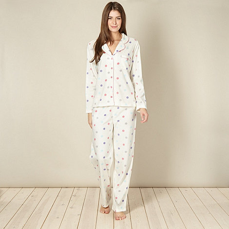 Lounge & Sleep - Cream spot pyjama set