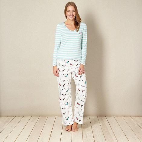 null - Online exclusive aqua dog jersey pyjama set