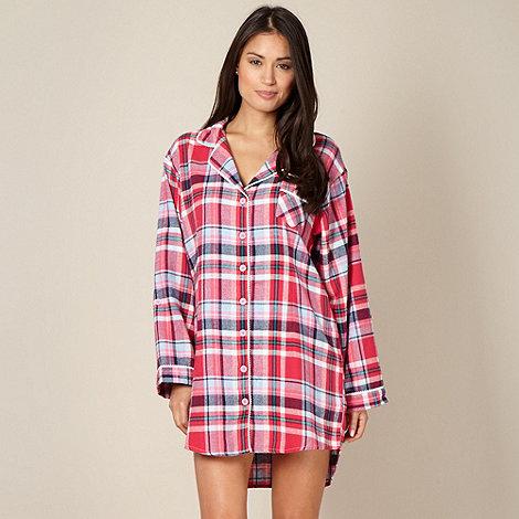 Lounge & Sleep - Pink woven checked nightshirt