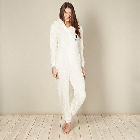 Lounge & Sleep - Cream sheep onesie