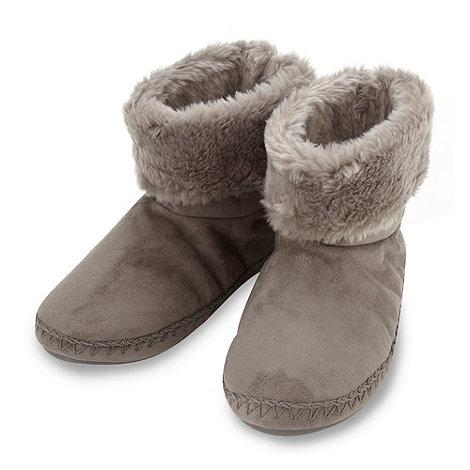 RJR.John Rocha - Designer grey roll cuff slipper boots