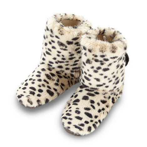 Floozie by Frost French - Dark cream animal printed boots