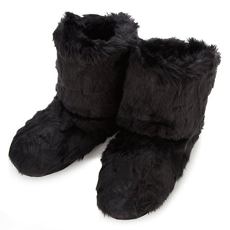 Floozie by Frost French - Black faux fur slipper boots