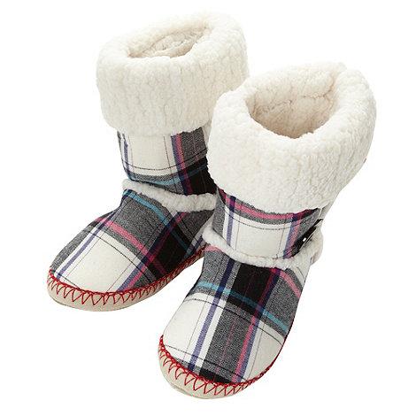 Iris & Edie - Designer tartan slipper boots