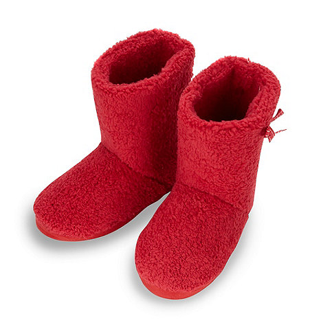 Lounge & Sleep - Red ribbon slipper boots