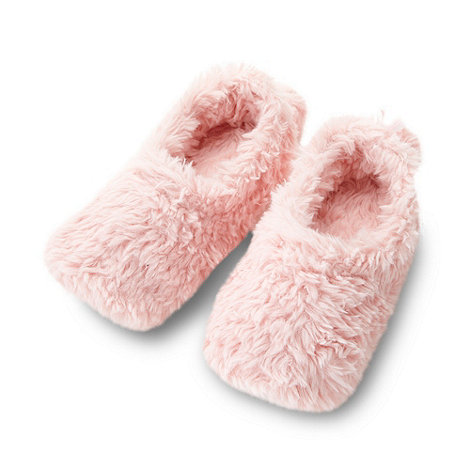 Lounge & Sleep - Pink fluffy slippers