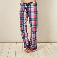 Designer pink woven checked pyjama bottoms