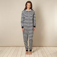 Women's navy striped and star printed onesie